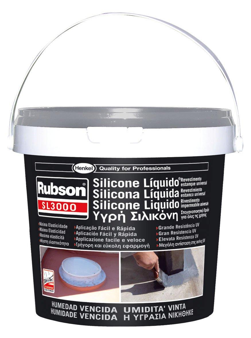henkel 1139769 SL3000 Rubson, Silicone Liquido, 1 Kg, Grigio, Gris y blanco: Amazon.es: Bricolaje y herramientas