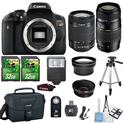 canon-eos-rebel-t6i-242mp-digital-slr-dslr-camera-canon-18-55mm-is-stm-lens-tamron-70-300mm-lens-2pc