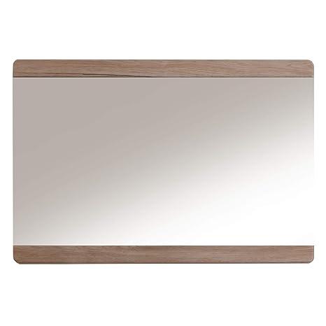 trendteam Espejo de baño para pared Malea, 65 x 70 x 4 cm en acabado roble claro San Remo