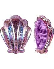 mi ji Shell forma de peine peine masaje antiestática del cepillo de pelo Anti-anudada