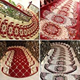 CqmzpdiC Stair Tread Mat Flower Plaid Design Non-Skid Step Carpet Rug Home Decoration Soft Anti-Static Strong Wear Resistance Durable Comfortable Practical Easy Washing Home Decor 5
