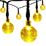 Amazon Price History for:easyDecor Solar Globe String Lights 21 ft 8 Modes 30 LED Bubble Crystal Ball Christmas Lights for Outdoor Indoor Garden Patio Home Holiday Path Lawn Party Decoration (Warm White)