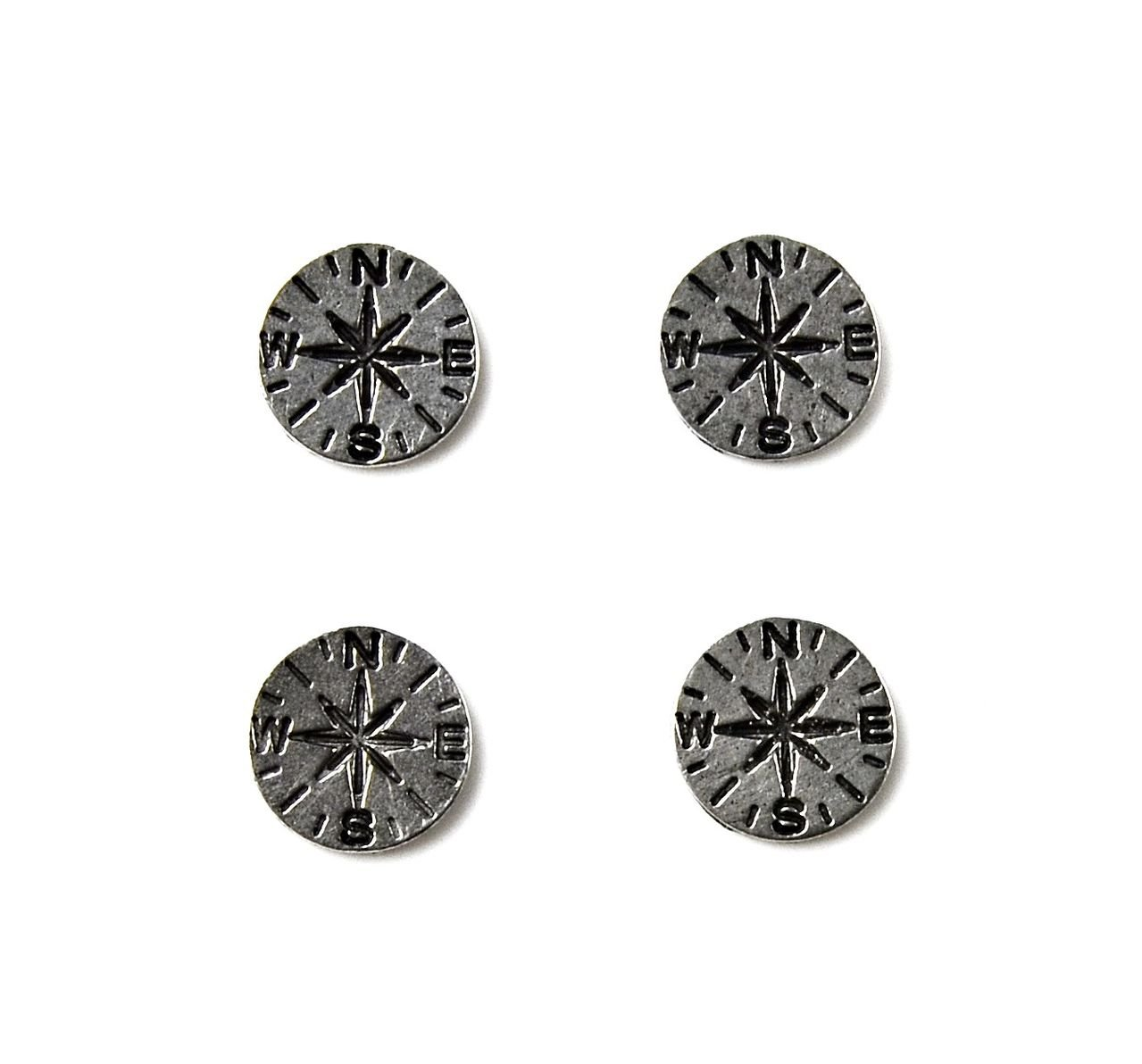 Quality Handcrafts Guaranteed Compass Tuxedo Studs