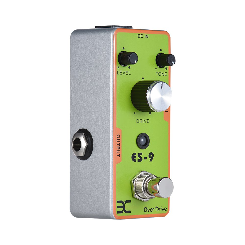 ammoon ENO Guitarra electrica Pedal de efectos Overdrive Carcasa metálica completa True Bypass: Amazon.es: Instrumentos musicales