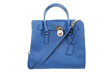 2c82bcb928e7 Michael Kors Hamilton Saffiano Tote Heritage Blue Leather: Handbags:  Amazon.com