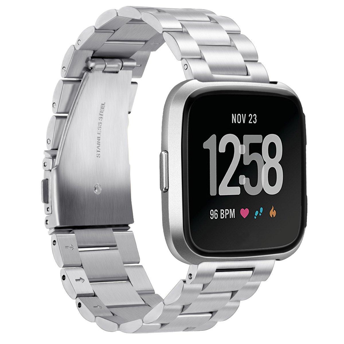 Malla Acero Para Fitbit Versa plateada- 14/21cm