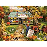 Bits and Pieces - 300 Piece Jigsaw Puzzle for Adults - Farmer's Market - 300 pc Autumn Scene Jigsaw by Artist Linda Picken