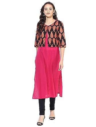 Myska Women Solid Cotton Kurti  Amazon.in  Clothing   Accessories e68ac0f5c9