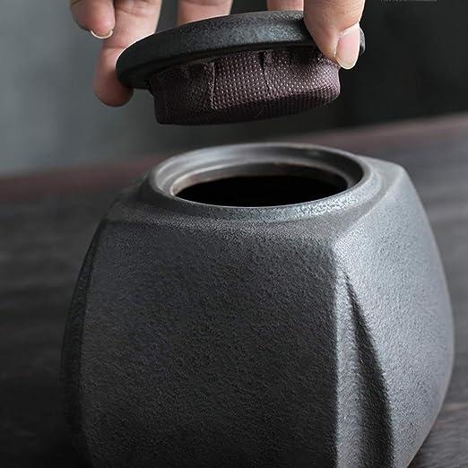 Exhibe la urna funeraria en casa o en un nicho Hecho en cer/ámica y pintado a mano MYXMY Urna de cremaci/ón para cenizas de tama/ño mediano patr/ón de ciruela pi Urna funeraria para cenizas humanas