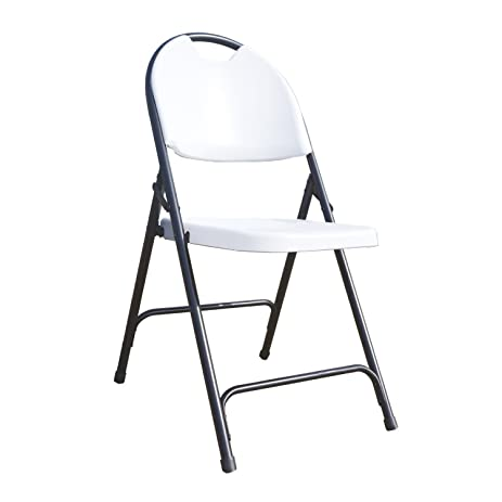 alextend folding chairs with carrying handle 4pack white
