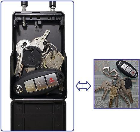 4 Digit Combination Wall Mounted Large Internal Key Storage Box//Key Safe Box for Indoors and Outdoors Short Shackle Box Detachable Shackle Design Bosvision Key Lock Box