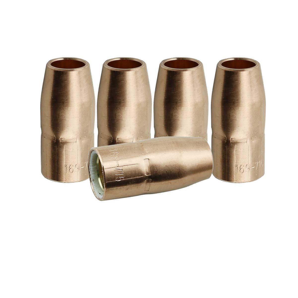 WeldingCity 2 Gas Nozzles 169-725 169725 5//8 for Miller and Hobart MIG Welding Guns