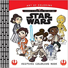 Art Of Coloring Journey To Star Wars The Last Jedi Keepsake Book Katie Cook 9781368017541 Amazon Books
