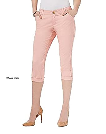 fefc2cb0 Amazon.com: Special Edition by Lee Petite Comfortable Light Weight Chino  Cropped Pants for Women (Salmon Bisque, 4P): Clothing