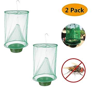 Amazon.com: Trampa para moscas al aire libre, paquete de 2 ...