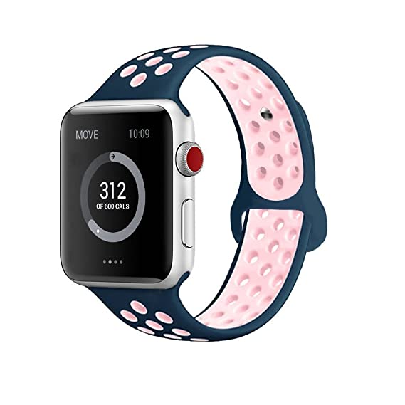 JINHI Compatible for Apple Watch Band 44mm 42mm 40mm 38mm, Breathable  Sporty for iWatch Bands Series 4/3/2/1, Watch Nike+, Various Styles and  Colors ...