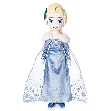 5733f85386f Amazon.com  Disney Elsa Plush Doll - Olaf s Frozen Adventure - 19 Inch   Toys   Games