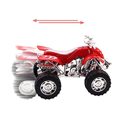Elevin(TM)???????? Beach Motorcycle Toy Pull Back Diecast Motorcycle Early Model Educational Toy: Toys & Games