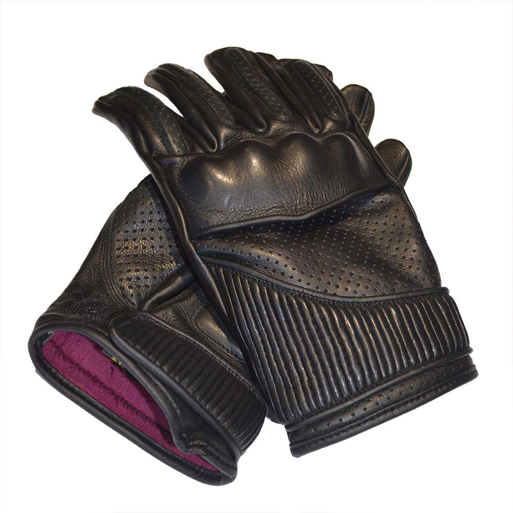 Knox CE Armoured Floating Knuckle Protection Unlined Perforated Summer Gloves GOLDTOP Mens Silk /& Unlined Viceroy Armoured Leather Motorcycle Gloves