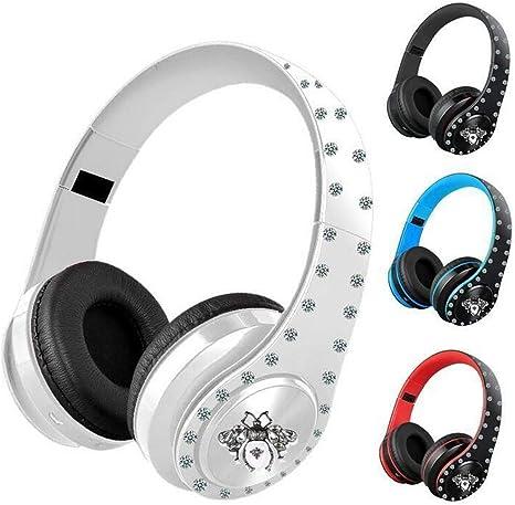 Amazon.com: Auriculares inalámbricos Bluetooth de cristal ...
