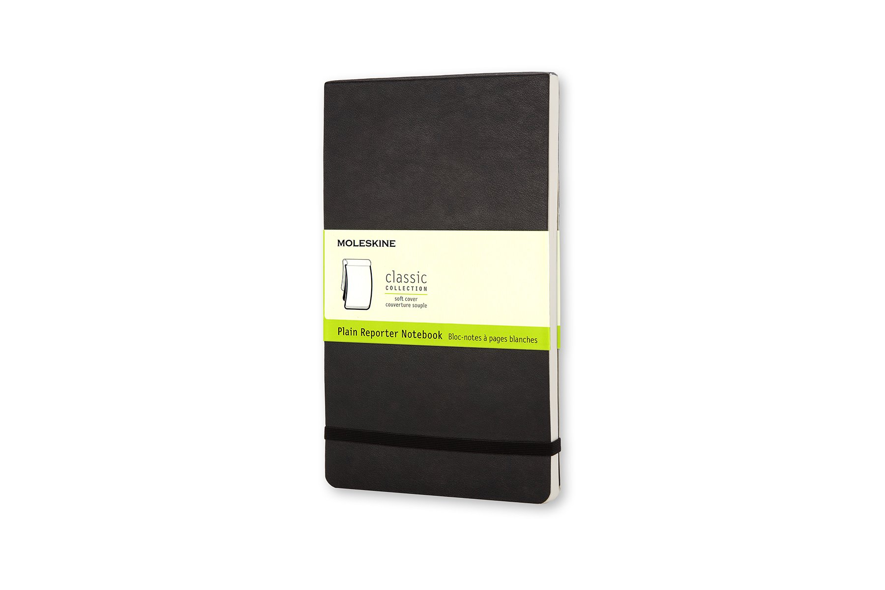 Moleskine Classic Soft Cover Reporter Notebook, Plain, Large