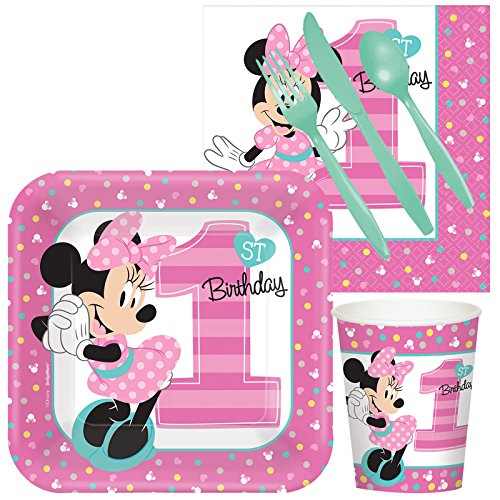 Disney Minnie Mouse 1st Birthday Party Supplies - Snack Pack -
