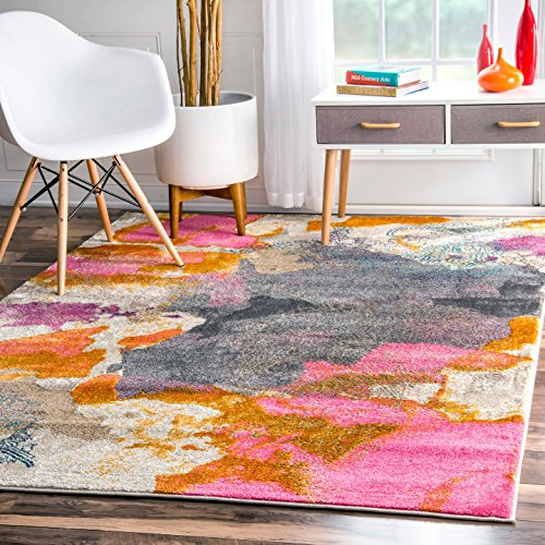 nuLOOM Gresham Contemporary Abstract Area Rug, 5 3 x 7 7 , Pink