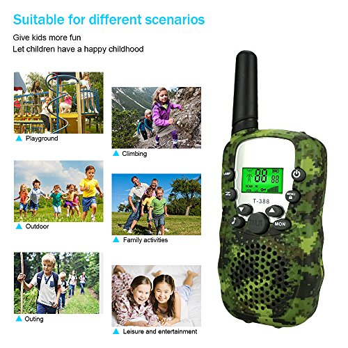 DIMY Toys for 3-12 Year Old Boys, Outdoor Toys Stocking Stuffer Walkie Talkies for Kids Xmas Toys for 3-12 Year Old Boys Girls Gifts Age 3-12 Year Old Boy Toys 2018 Christmas New Gifts Green DMDJJ01