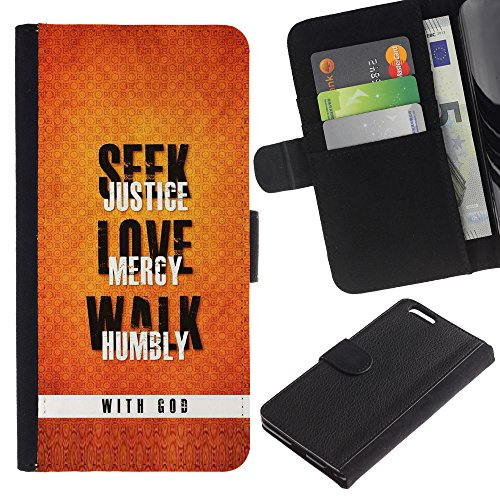 EuroCase - Apple Iphone 6 PLUS 5.5 - LOVE WITH GOD - Cuir PU Coverture Shell Armure Coque Coq Cas Etui Housse Case Cover
