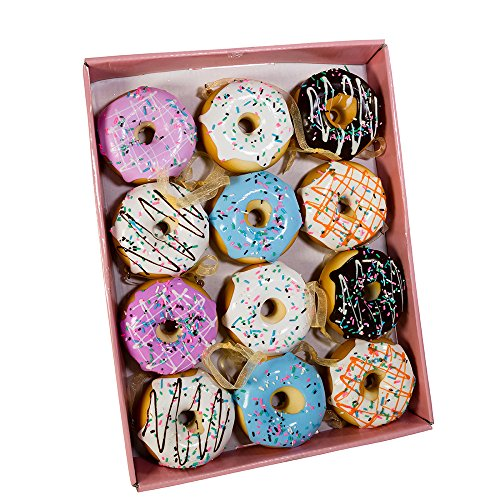 Kurt Adler Set of Twelve 2.75-Inch Donut Ornament