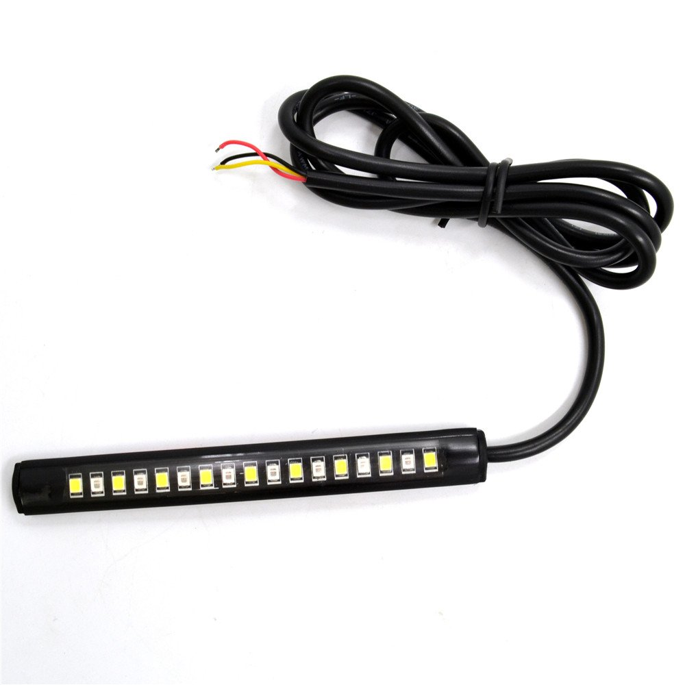 Bendable 17 LED Strip Tail Light Brake Turn Signal Indicator 2835 SMD Motorcycle BJ