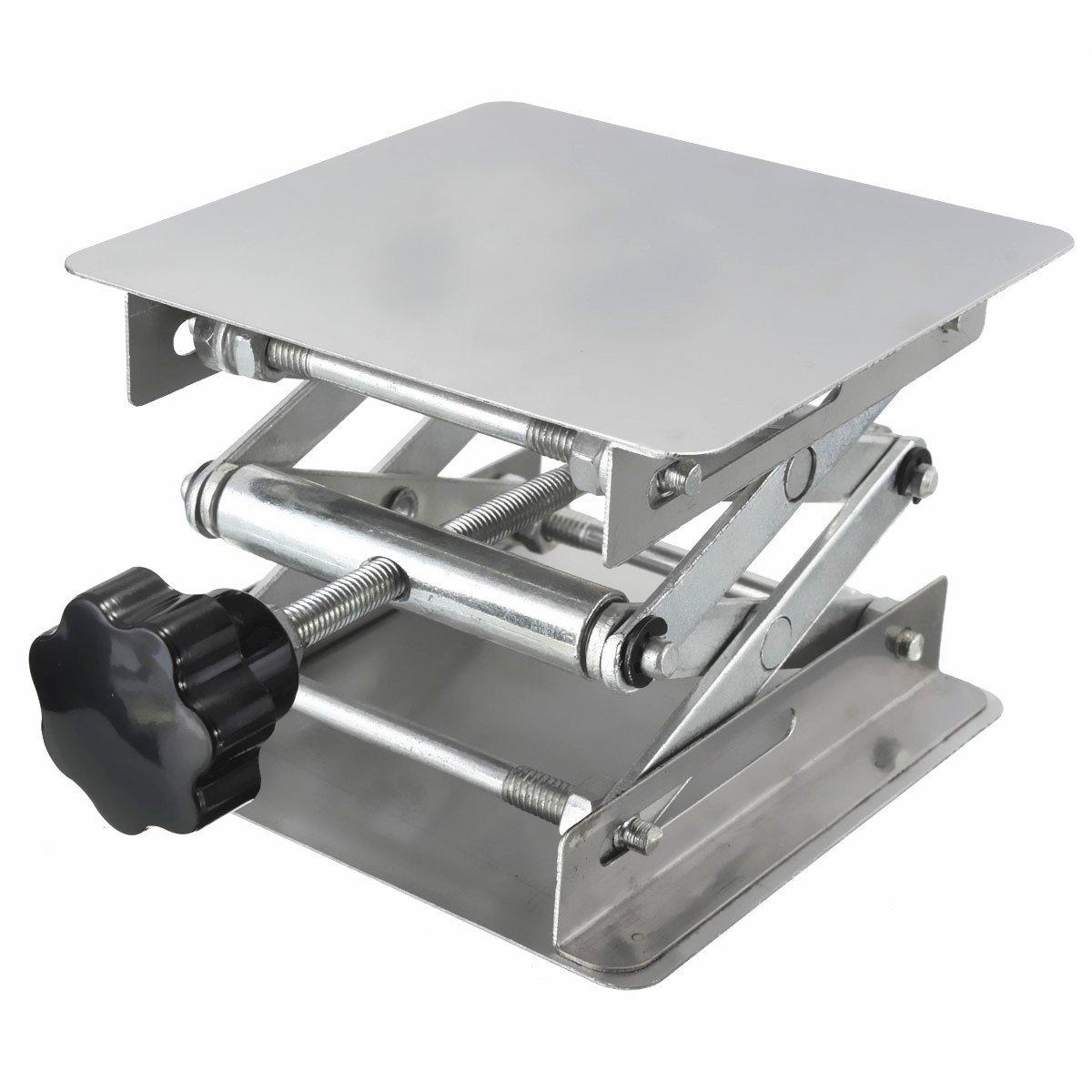 CLAKION Laboratory Lifts Platform Stand Manual Control 100X100X150mm