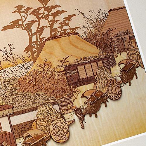 KINOWA Ukiyoe Art Kit Kiharie The Running Well Teahouse at Otsu by Hiroshige Made in Japan by KINOWA (Image #3)