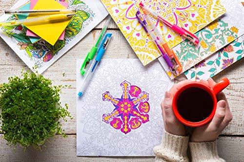 Crafty Croc Gel Pens for Adult Coloring Books Refillable Ink Pen Set...