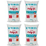 Fairfield the Original Poly-Fil Premium 100% Polyester Fiber Fill Bag, 50 Ounces, White - (4 Pack)