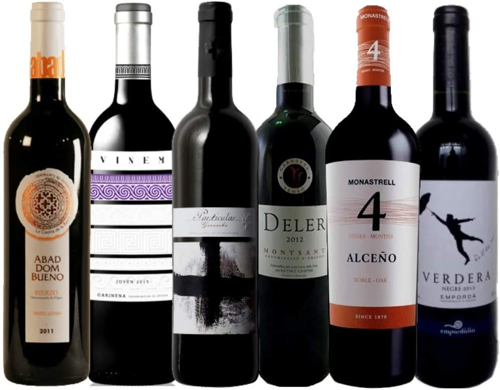 Pack de Vino Tinto | Vinos económicos y sorprendentes | Selección de vino tinto: Amazon.es: Alimentación y bebidas