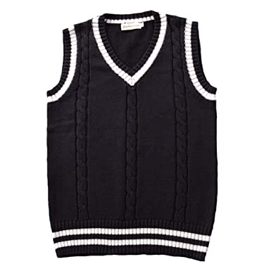 d700d2495ed6 E.JAN1ST Women s Men s Sweater Vest Knitted V Neck Cable Stretchy Pullover  Vest Top