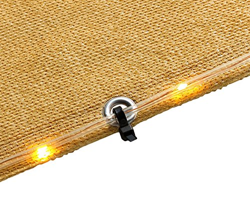DIIG Sun Shade Sail String Lights Waterproof Decorative Lights USB Powered 33 Feet 100 LEDs for Indoor Outdoor Patio Garden Yard Lawn