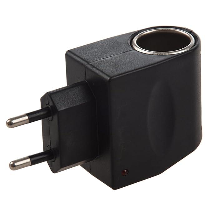 REFURBISHHOUSE 12V DC Encendedor de Cigarrillos de Coche Adaptador de convertidor 110V-220V de alimentacion de CA a 12V DC