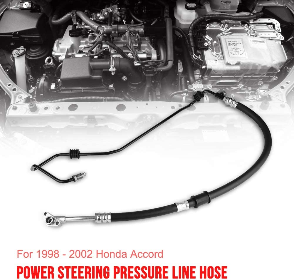 Qiilu Power Steering Pressure Line Hose Assembly Fit for Honda Accord V6 3.0L 1998-2002 53713S87A04