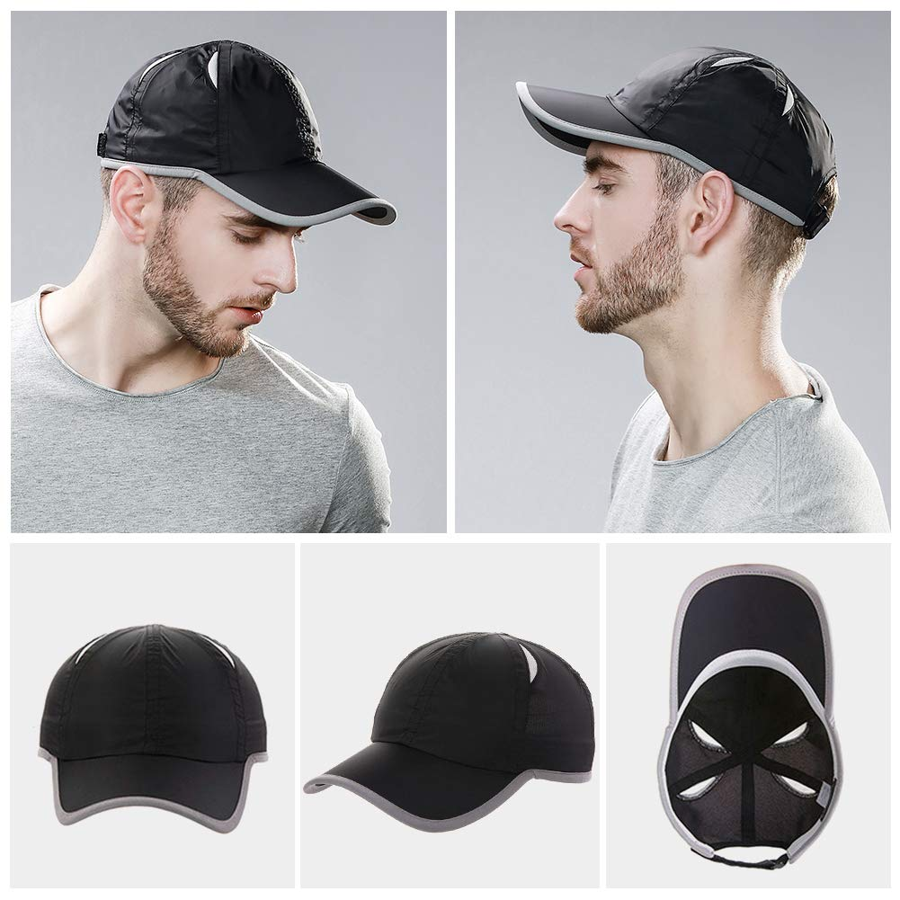 Fancet Unisex SPF Quick-Drying Running Baseball Cap Large Bill Sun Hat 55-61cm