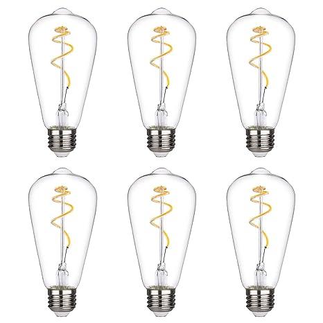 Amazon.com: BORT - Bombilla LED Edison vintage de 4,5 W, 450 ...