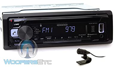 Kenwood KDC-BT21 in-Dash 1-DIN CD MP3 Car Stereo Receiver with Bluetooth and Front USB Input