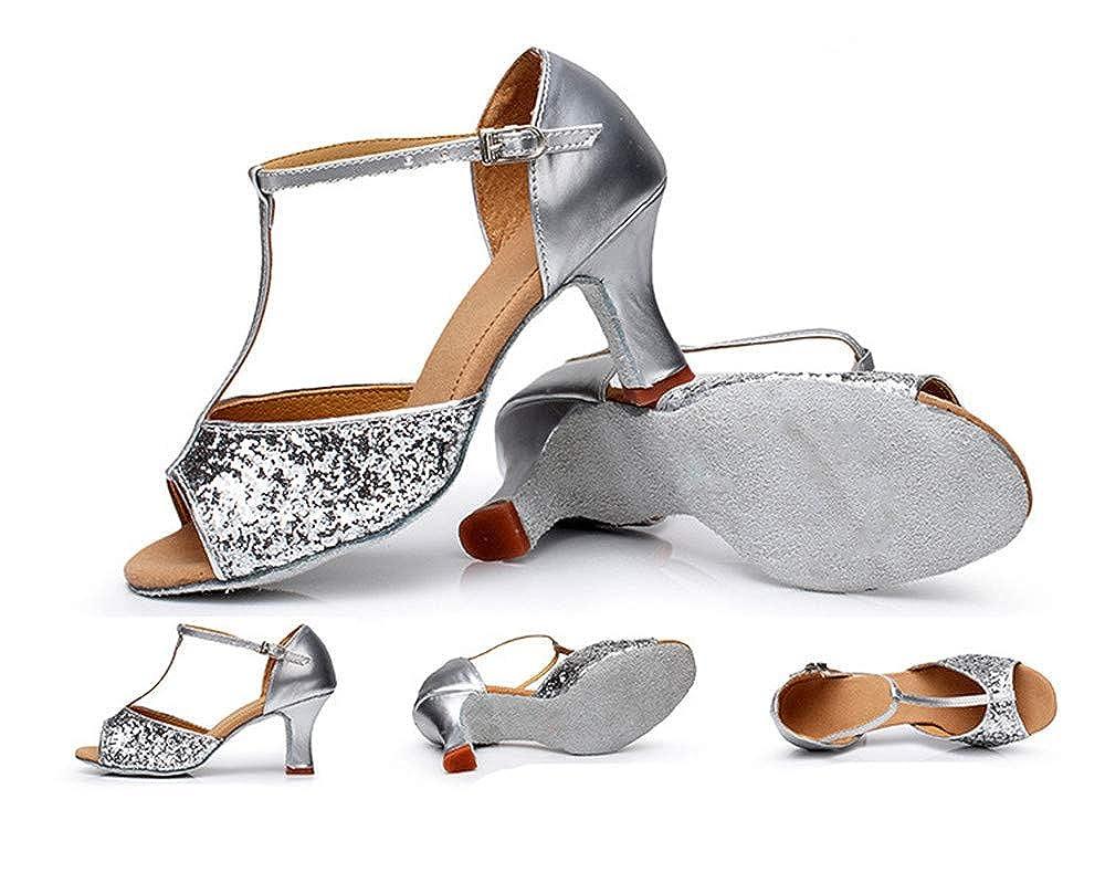 excellent.c Womens Buckle with Waltz Ballroom Dance Shoes Latin Dance Sandals