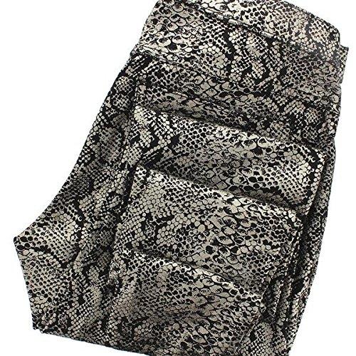 (HUE Leggings - Foil Python Print Jean Leggings - Size: L)
