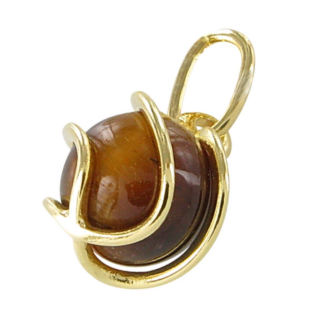 InCollections Damen-Anhänger 333/000 Gold mit Tigerauge 0070100013401
