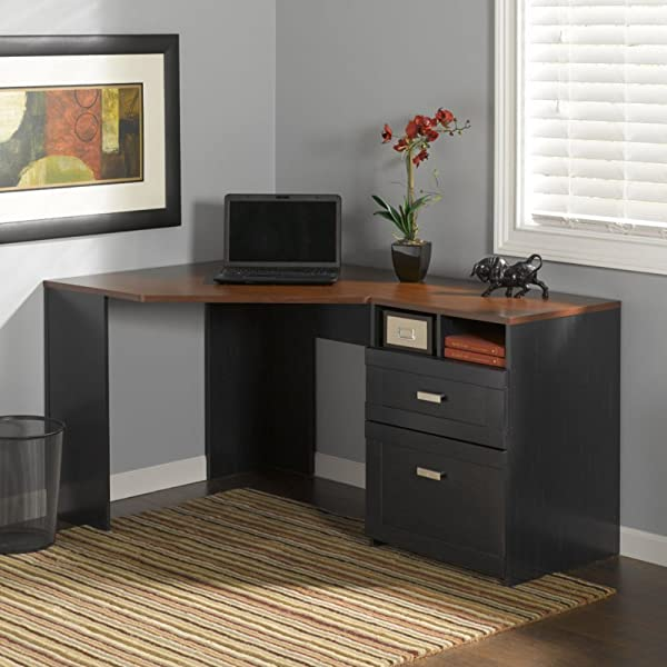 Wheaton Reverable Black Corner Desk