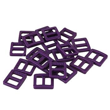 BQLZR 1cm pš²rpura plš¢stico Tri-deslizamiento hebillas Slider hebillas para mochila correas ropa y calzado DIY Pack de 20: Amazon.es: Bricolaje y ...