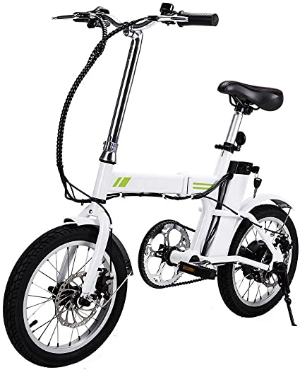 Folding 350W Electric Bicycle E Bike Scooter 36V W//12 Mile Range /& APP Control !