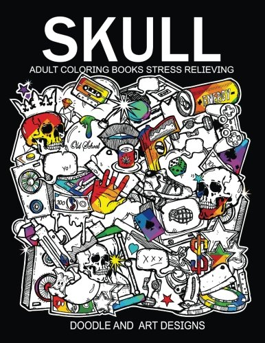 Skull Adults Coloring Books: Tattoo Doodle and Art Design (Sugar ...